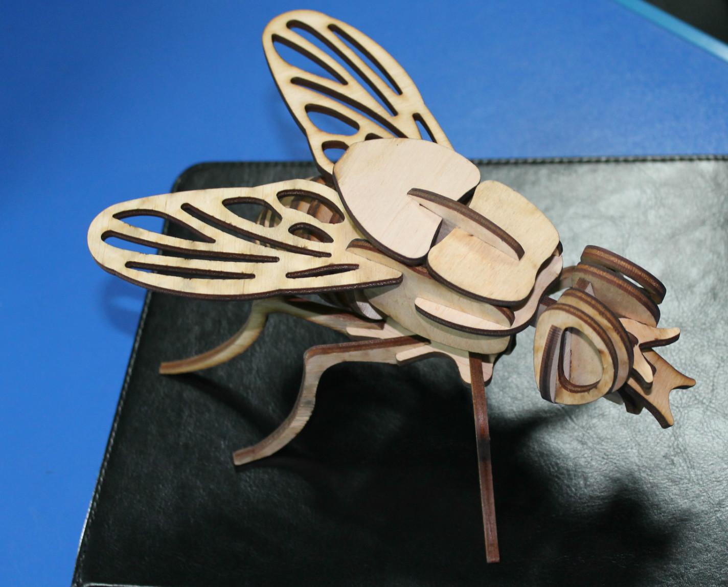 3D пазл Муха